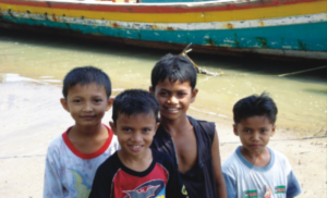 Children from fishers' village, Aceh province, Indonesia. Photo and copyright: John Kurien