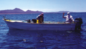 Fishermen in the Seri Pen fisheries. Photo and copyright: Xavier Basurto