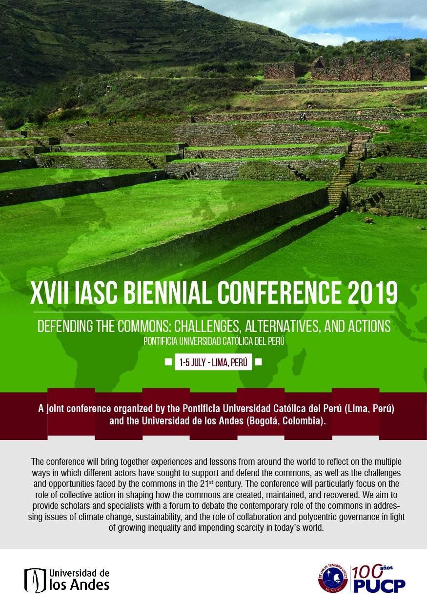 XVII Biennial IASC-Conference (Lima, Peru, July 1-5, 2019